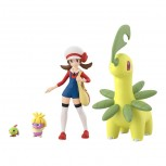 Pokemon Scale World Johto Region Kotone & Bay Leaf & Natu & Smoochum