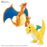 Pokemon Plamo Collection No.43 Select Series Charizard (Battle Ver.) & Dragonite VS Set