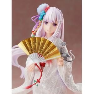F:nex 1/7 Emilia -Shiromuku- [FREE KCX Exclusive Keychain 附送KCX限定钥匙扣 ]